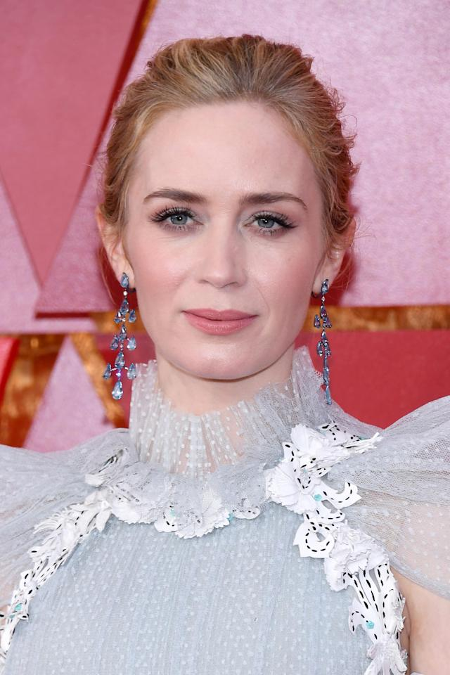 Emily Blunt is staying mum on Trump. (Photo: Kevork Djansezian/Getty Images)