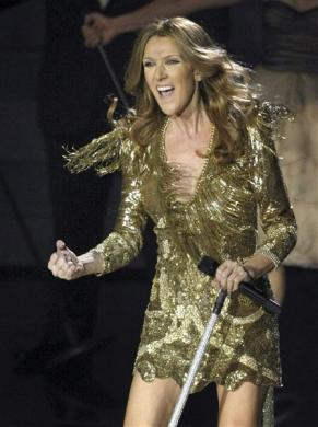 Celine Dion performs during opening night at the Colosseum at Caesars Palace in Las Vegas, Nevada March 15, 2011.