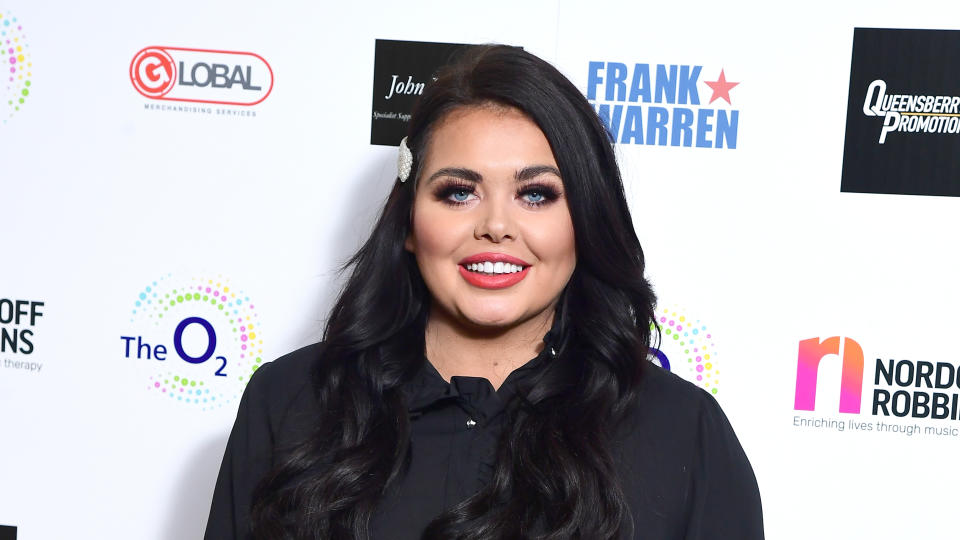 Scarlett Moffatt attending the Nordoff Robbins Boxing Dinner held at the Hilton Hotel, London. (Photo by Ian West/PA Images via Getty Images)