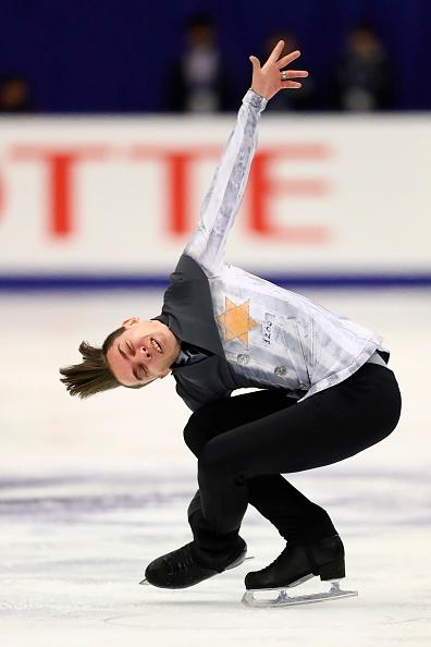 Russia's Anton Shulepov performs in the men's free skating at the Grand Prix of Figure Skating 2019/2020 NHK Trophy in Sapporo on November 23, 2019. | Junko Kimura-Matsumoto—AFP/Getty Images