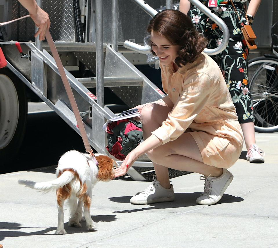 <p>Did we mention that Brosnahan loves to stop and take a puppy break? </p>