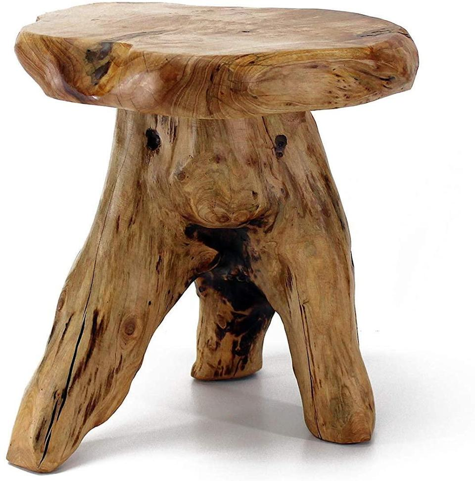 """<h3>Live-Edge Tree Stump Stool</h3><br>Add a touch of cozy hygge-energy to any corner or tight space inside your home with this unique stool crafted from reclaimed cedar stumps. <br><br><strong>WELLAND</strong> Tree Stump Stool Live Edge, $, available at <a href=""""https://amzn.to/2MyEhle"""" rel=""""nofollow noopener"""" target=""""_blank"""" data-ylk=""""slk:Amazon"""" class=""""link rapid-noclick-resp"""">Amazon</a>"""