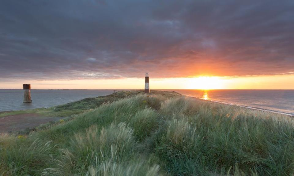 A disused lighthouse at Spurn Head.