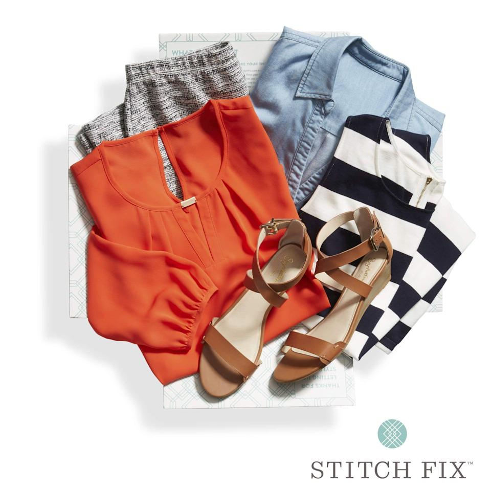 """<p><strong>Stitch Fix</strong></p><p>stitchfix.com</p><p><strong>$20.00</strong></p><p><a href=""""https://go.redirectingat.com?id=74968X1596630&url=https%3A%2F%2Fwww.stitchfix.com%2F%3Fclick_id%3DTGnWeDSn-xyJWwLwUx0Mo38yUkn1Jn2z3Tvoys0%26irgwc%3D1%26psid%3D10078%26psn%3DSkimbit%2BLtd.%26pcrn%3DOnline%2BTracking%2BLink%26pid%3D4461%26pcid%3D8369%26pcrid%3D477659&sref=https%3A%2F%2Fwww.harpersbazaar.com%2Ffashion%2Ftrends%2Fg25047818%2Fbest-subscription-boxes-for-women%2F"""" rel=""""nofollow noopener"""" target=""""_blank"""" data-ylk=""""slk:Shop Now"""" class=""""link rapid-noclick-resp"""">Shop Now</a></p><p>We all know that one person who could use a little help in the wardrobe department. Give them a gentle nudge in the right direction with Stitch Fix's personal styling service. Expert stylists curate a box of goodies based on a quiz that surveys their unique fashion preferences and sizes. Stitch Fix offers boxes for women, men, and kids.</p><p><strong>Cost:</strong> Starts at $20 for each package (credited toward the cost of any kept items)</p>"""