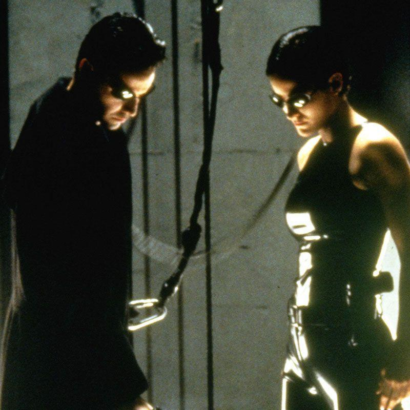 "<p>The Wachowskis dreamed up an incredible sci-fi dystopia and then cast Keanu Reeves to play an everyman who discovers he's the chosen one who must free humanity from the tyranny of machines. <em>The Matrix</em> should not have worked, but from bullet-time technology to the film's trench-coat aesthetic, it became an epoch of pre-millennium action filmmaking.</p><p><a class=""link rapid-noclick-resp"" href=""https://www.amazon.com/Matrix-Keanu-Reeves/dp/B0094K35S6/ref=sr_1_1_sspa?dchild=1&keywords=The+Matrix&qid=1595260362&s=instant-video&sr=1-1-spons&psc=1&spLa=ZW5jcnlwdGVkUXVhbGlmaWVyPUE1Tjg5VzZRNzFMU0omZW5jcnlwdGVkSWQ9QTA1NjMyNzYzMDhYQ0tXRzlWSUZYJmVuY3J5cHRlZEFkSWQ9QTA0MTg3NTlUMUtPNlk2UUhIMkQmd2lkZ2V0TmFtZT1zcF9hdGYmYWN0aW9uPWNsaWNrUmVkaXJlY3QmZG9Ob3RMb2dDbGljaz10cnVl&tag=syn-yahoo-20&ascsubtag=%5Bartid%7C2139.g.26455274%5Bsrc%7Cyahoo-us"" rel=""nofollow noopener"" target=""_blank"" data-ylk=""slk:WATCH NOW"">WATCH NOW</a></p>"