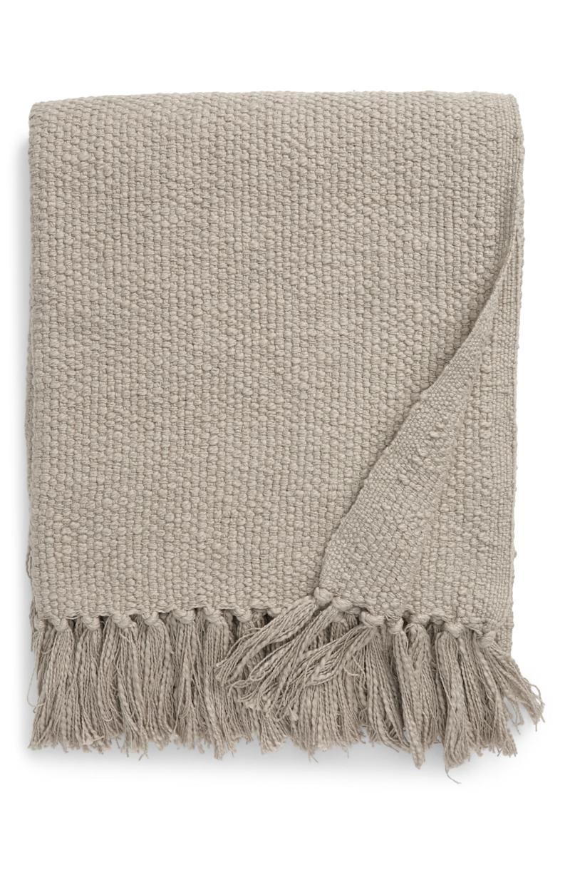 Woven Cotton Throw Blanket. Image via Nordstrom.