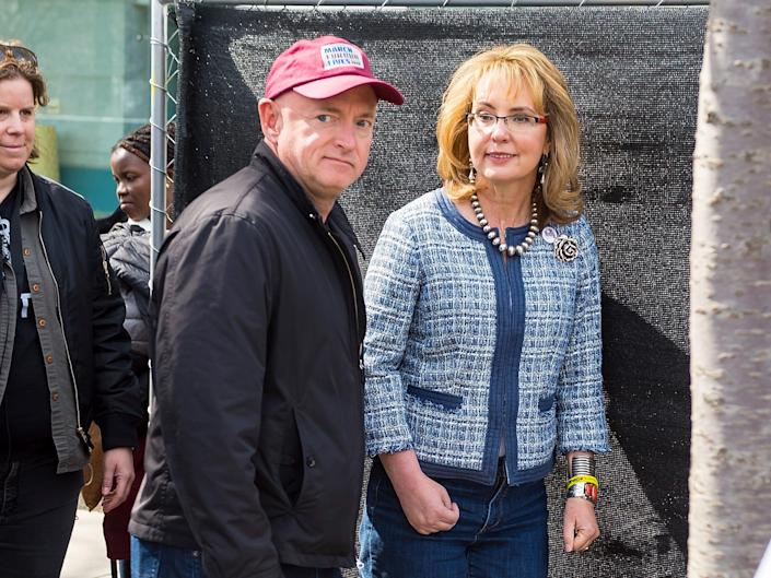mark kelly gabrielle giffords march for our lives