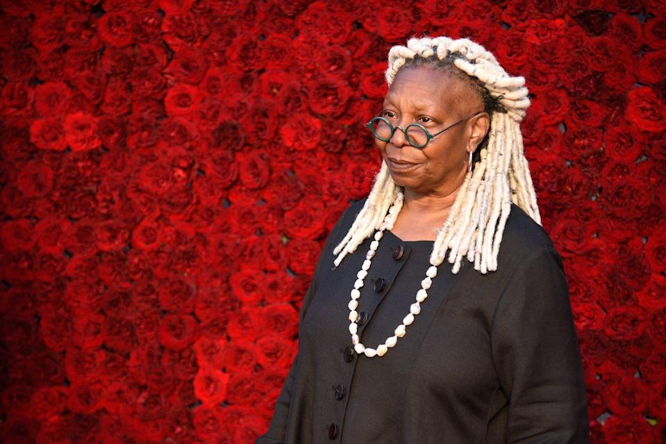 <p>In September, Whoopi Goldberg said goodbye to her dark brunette hair and unveiled faux-white dreadlocks on <em>The View</em>, and boy did she stun! The milky-white dreadlocks are perfect for any age, but especially if you have gray roots coming in.</p>