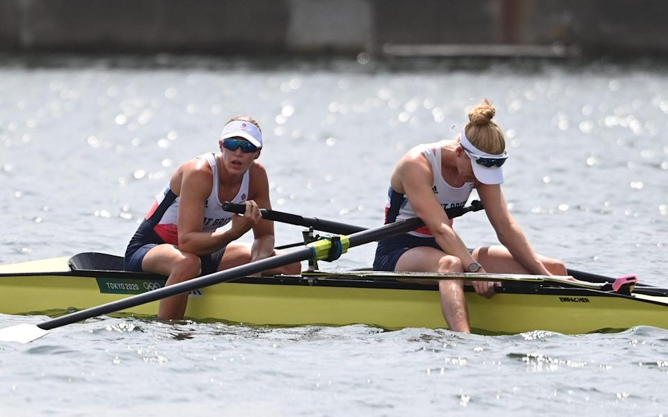 Glover and Swann finished fourth in the women's pairs - Paul Grover