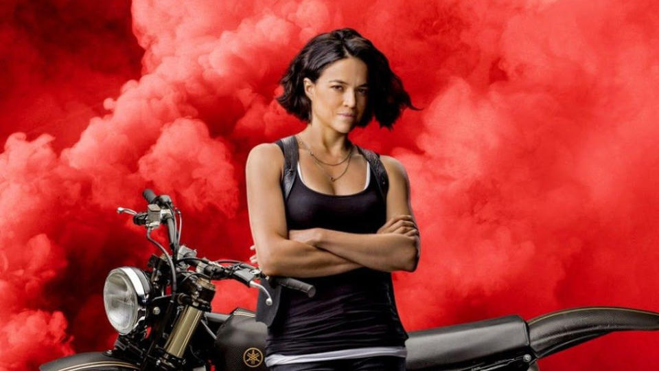 Michelle Rodriguez in poster art for 'Fast & Furious 9'. (Credit: Universal)