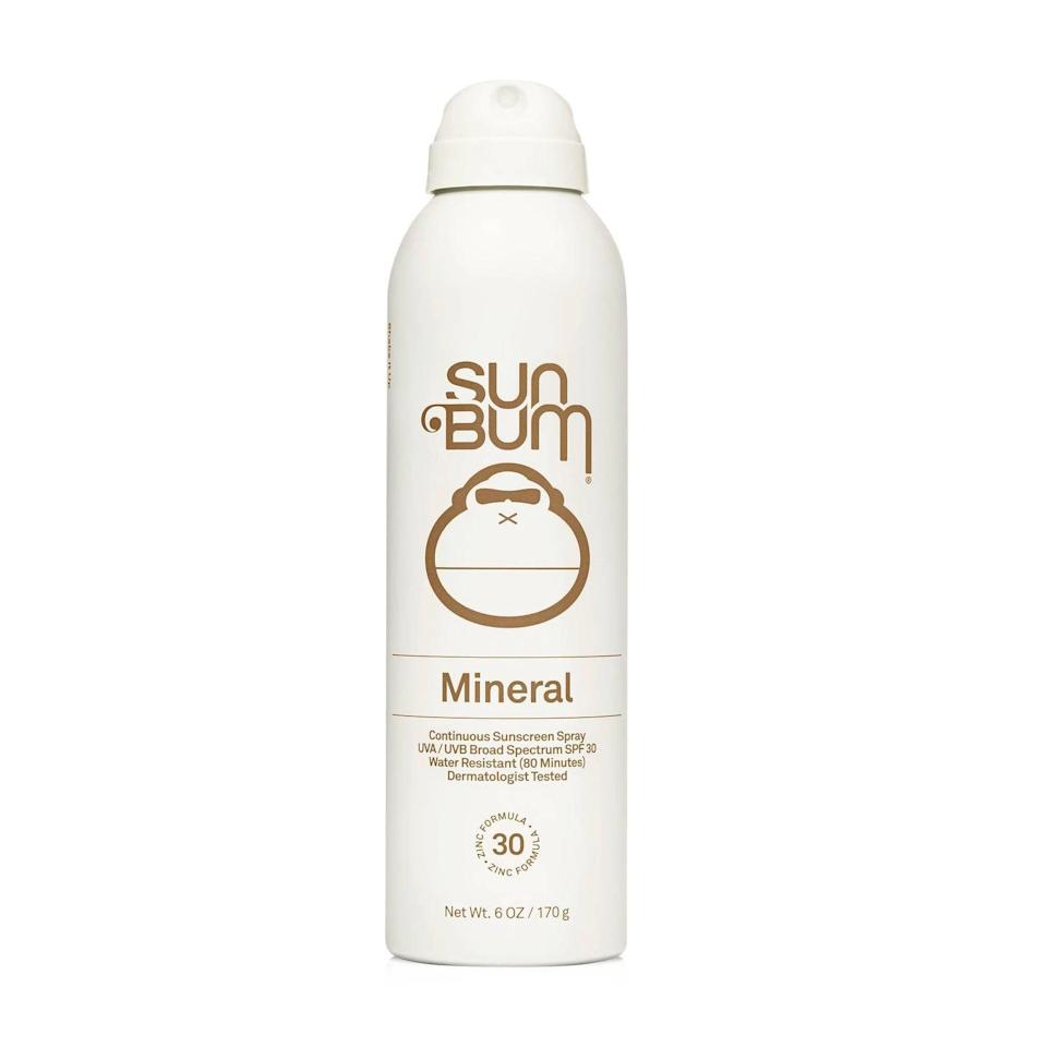 """<p>""""When it comes to body sunscreens, I absolutely despise rub-in lotion formulas. (Maybe it's because I don't have the patience to rub it in thoroughly, but I find it doesn't cover as well as a spray.) My solution: the <a href=""""https://www.popsugar.com/buy/Sun-Bum-Mineral-Spray-Sunscreen-SPF-30-585514?p_name=Sun%20Bum%20Mineral%20Spray%20Sunscreen%20SPF%2030&retailer=target.com&pid=585514&price=18&evar1=bella%3Aus&evar9=47580543&evar98=https%3A%2F%2Fwww.popsugar.com%2Fbeauty%2Fphoto-gallery%2F47580543%2Fimage%2F47581047%2FSun-Bum-Mineral-Spray-Sunscreen-SPF-30&list1=beauty%20products%2Csunscreen%2Ceditors%20pick%2Csummer%2Cskin%20care&prop13=mobile&pdata=1"""" class=""""link rapid-noclick-resp"""" rel=""""nofollow noopener"""" target=""""_blank"""" data-ylk=""""slk:Sun Bum Mineral Spray Sunscreen SPF 30"""">Sun Bum Mineral Spray Sunscreen SPF 30</a> ($18). The zinc-based, mineral spray has a matte finish that doesn't feel the least bit greasy on the skin. Because of its easy-to-use bottle, I don't mind applying and reapplying it over and over again when I'm out in the sun (which, of course, is key to not burning)."""" - JH</p>"""