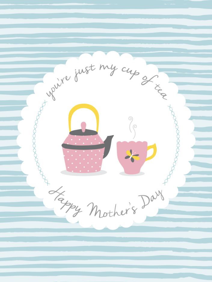 """<p>For moms who love puns (and tea), here's the perfect printable. Take it the extra mile by taping some tea bags inside for her to enjoy.</p><p><em><strong>Get the printable at <a href=""""https://www.catchmyparty.com/blog/free-printable-pastel-mothers-day-cards"""" rel=""""nofollow noopener"""" target=""""_blank"""" data-ylk=""""slk:Catch My Party"""" class=""""link rapid-noclick-resp"""">Catch My Party</a>.</strong></em></p>"""
