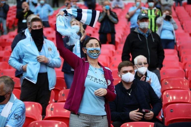 Fans had to provide evidence of a negative coronavirus test in the past 24 hours to enter Wembley