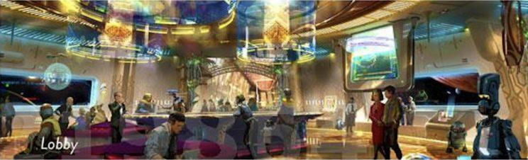 Star Wars land concept art shows a very cool immersive hotel - Credit: WDWNT