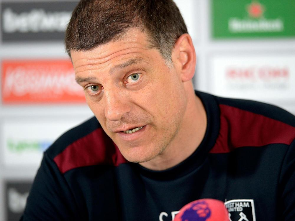 Slaven Bilic is fully focused on the game with Tottenham on Friday night: Getty