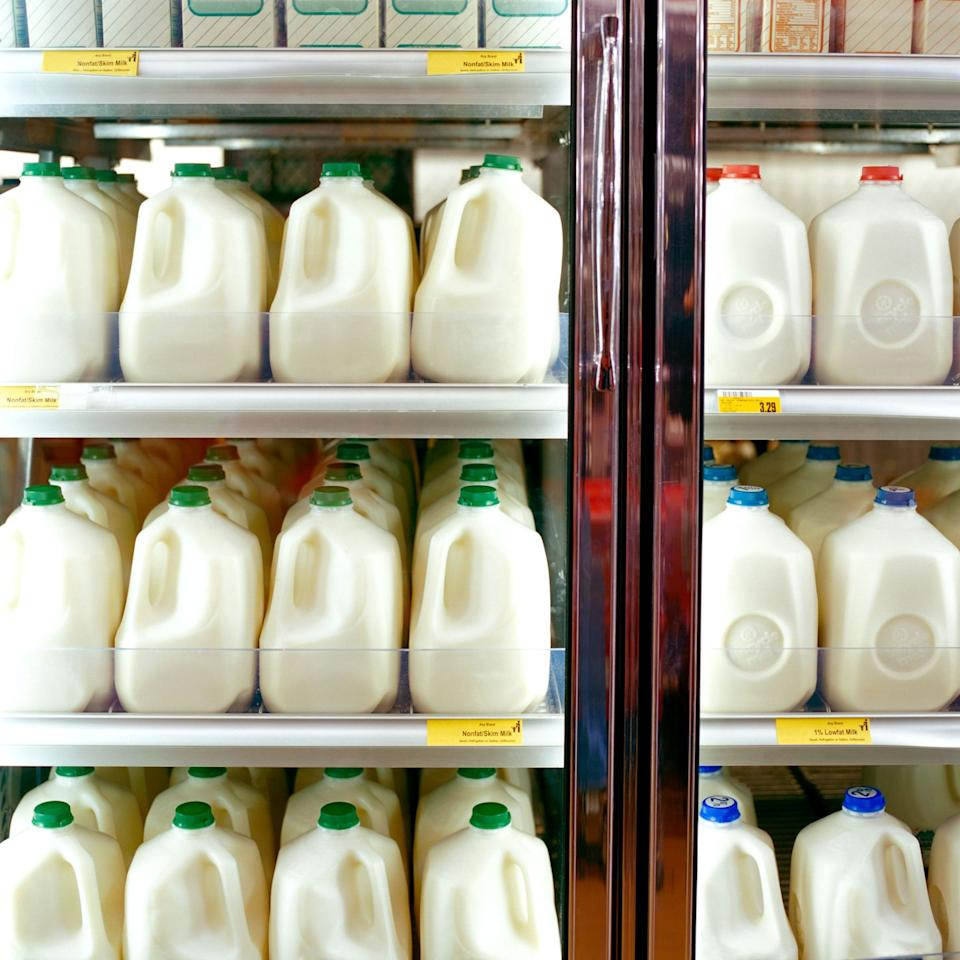 """<p><strong>Where it's found</strong>: Milk and dairy products</p><p><strong>Why it's bad</strong>: You've probably heard about the dangers of synthetic hormones by now, so it's borderline insane that they're still legal in the United States. Cows treated with them can become infertile and develop inflamed udders, so if we think humans are immune to the effects, we're wrong. The hormones have been linked to <a href=""""http://www.shape.com/blogs/shape-your-life/13-banned-foods-still-allowed-us"""" target=""""_blank"""">breast, colon, and prostate cancer</a>, so it's definitely not something to mess around with.</p>"""