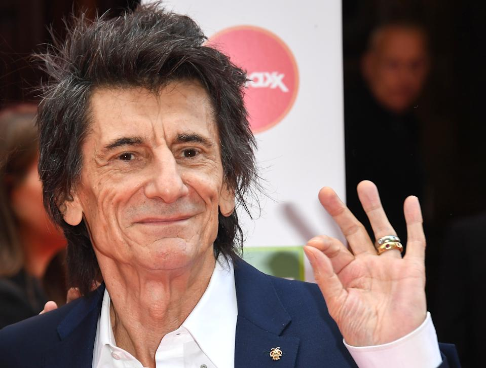 LONDON, ENGLAND - MARCH 11: Ronnie Wood attends the Prince's Trust And TK Maxx & Homesense Awards at London Palladium on March 11, 2020 in London, England. (Photo by Stuart C. Wilson/Getty Images)