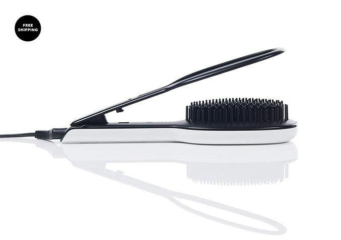 "Brush, straighten and smooth all <a href=""https://www.instyler.com/products/glossie"" target=""_blank"">with one tool</a>."