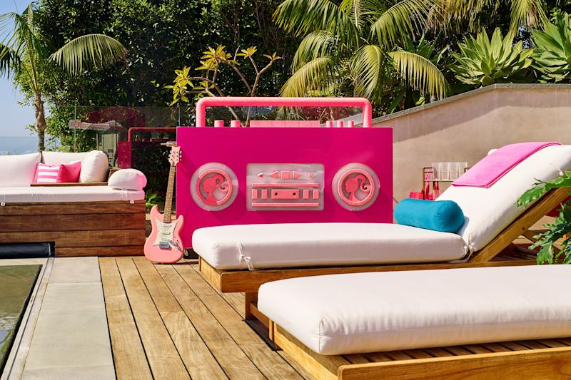 The gigantic Barbie boom box you didn't know you needed.