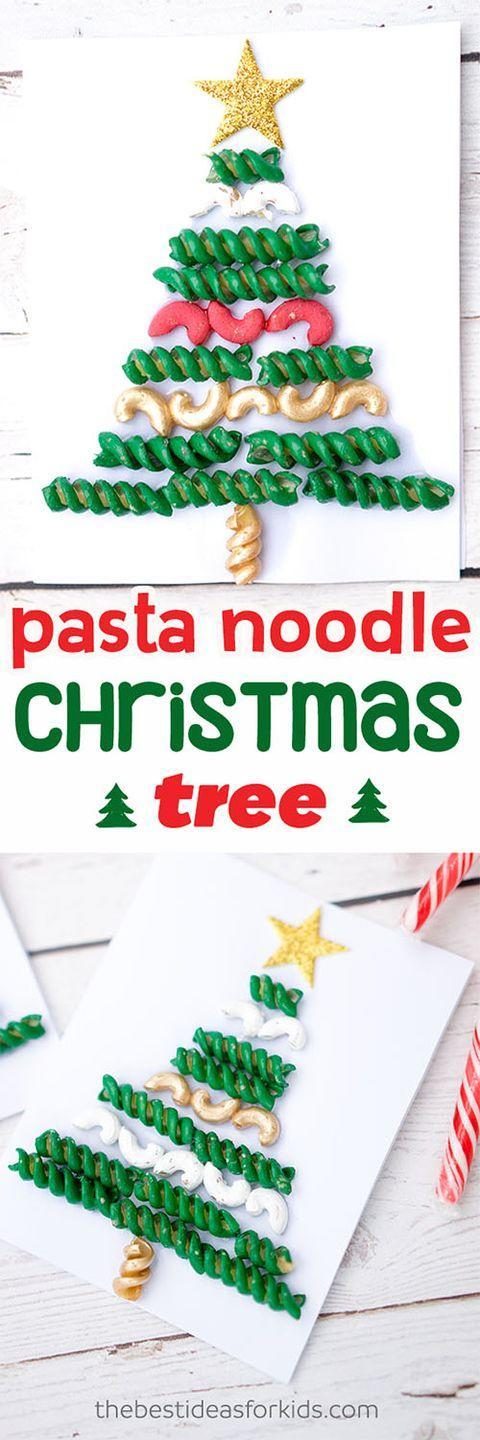 """<p>Preschool kids will love glueing pasta in various forms to make a tree-shaped design for a wallhanging or card. Pro tip: Instead of painstakingly painting each piece, toss a batch in a sandwich bag with paint to color the whole lot at once!</p><p><em><a href=""""https://www.thebestideasforkids.com/christmas-tree-pasta-macaroni-craft/?"""" rel=""""nofollow noopener"""" target=""""_blank"""" data-ylk=""""slk:Get the tutorial at The Best Ideas for Kids"""" class=""""link rapid-noclick-resp"""">Get the tutorial at The Best Ideas for Kids </a></em></p>"""
