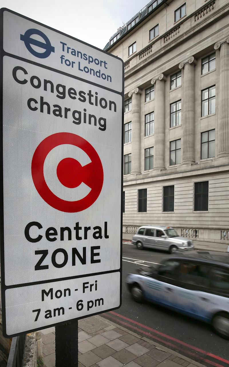 London's congestion charge - Credit: Philip Toscano/PA