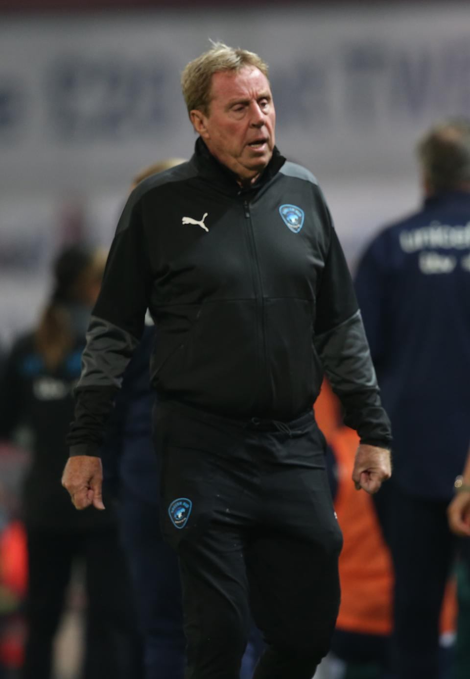 Harry Redknapp of Rest of the World walks out for the second half during the Soccer Aid for Unicef 2020 match between England and Rest of the World at Old Trafford on September 06, 2020 in Manchester, England. (Photo by John Peters/Manchester United via Getty Images)