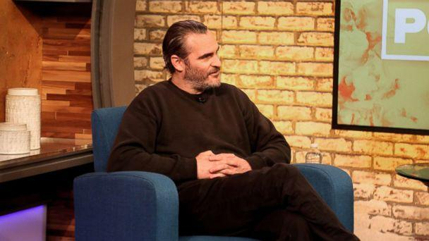 PHOTO: Joaquin Phoenix appears on 'Popcorn with Peter Travers' at ABC News Studios in New York City, April 3, 2018. (Hayley Bartels/ABC News)