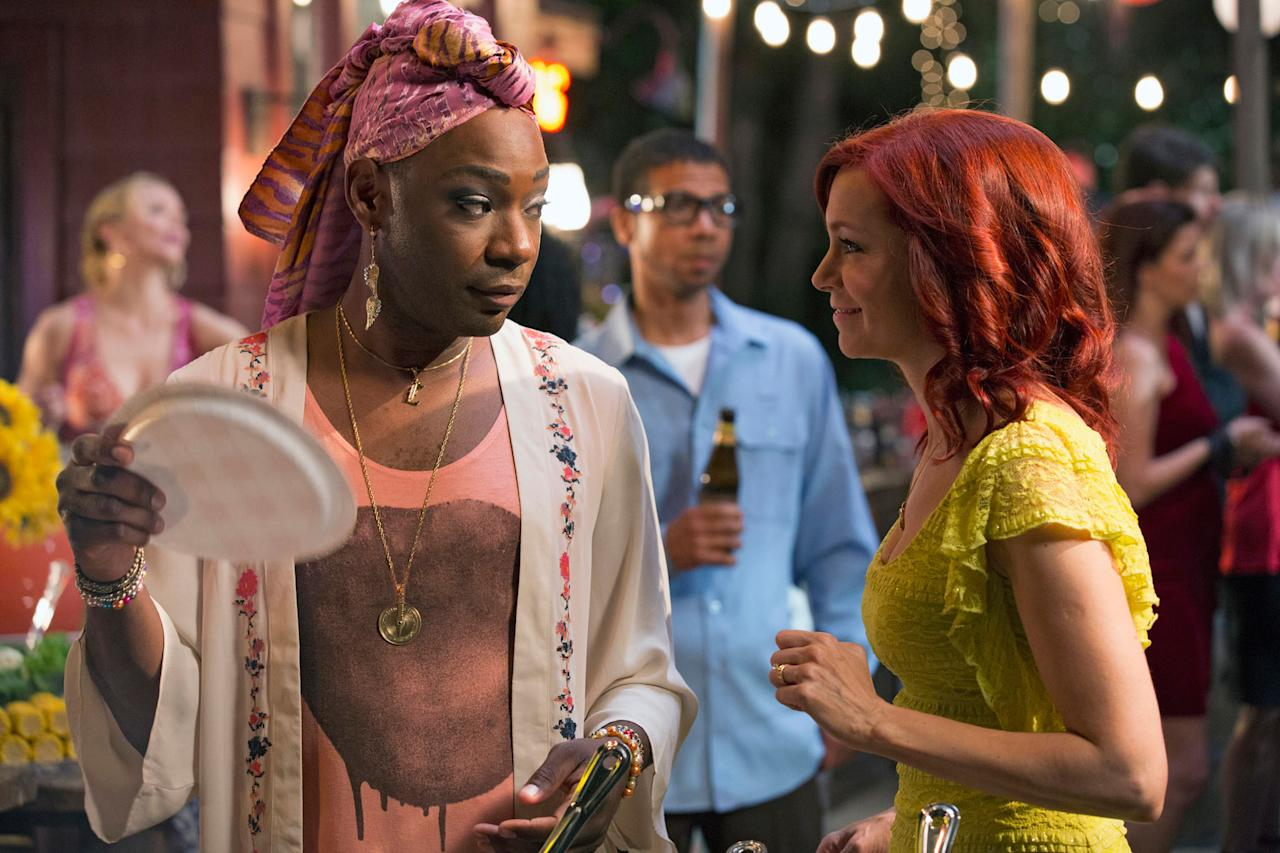 "Nelsan Ellis and Carrie Preston in the ""True Blood"" Season 6 episode, ""Radioactive."""