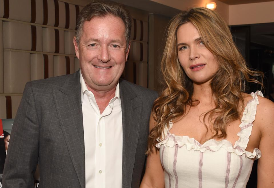 Piers Morgan and Celia Walden have had a panic button installed at home. (Getty Images)