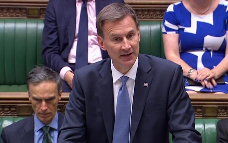 Jeremy Hunt gave an update on shipping in the Gulf to the Commons on Monday (AFP/Getty Images)