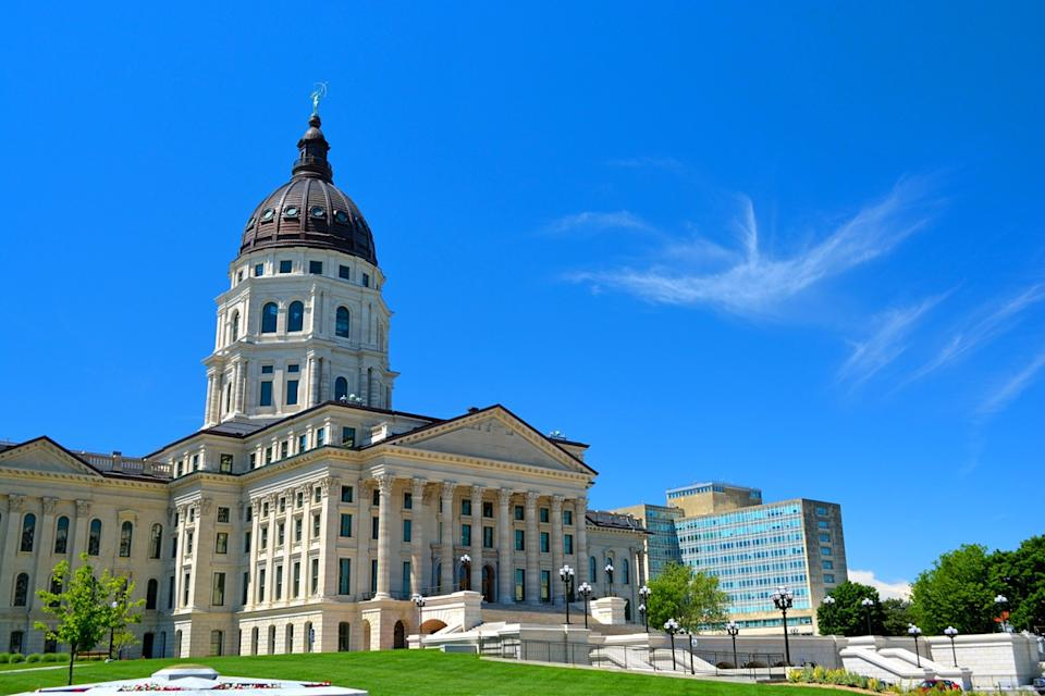 Kansas State Capitol Building on a Sunny Day