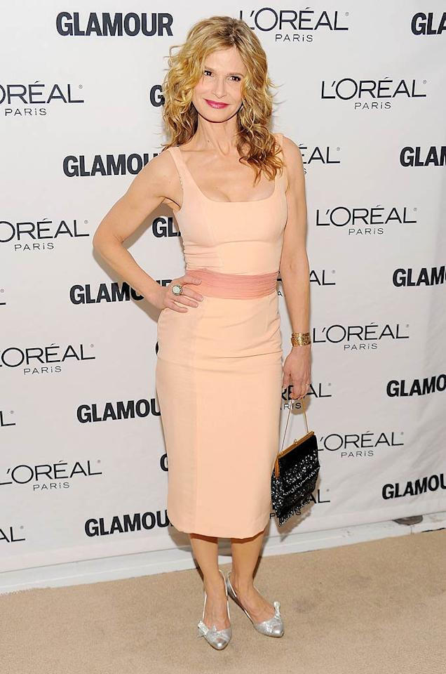 "Julia's ""Something to Talk About"" co-star Kyra Sedgwick showed off her amazing fit figure in a peach L'Wren Scott Spring 2011 number, which she paired with silver heels. Dimitrios Kambouris/<a href=""http://www.wireimage.com"" target=""new"">WireImage.com</a> - November 8, 2010"