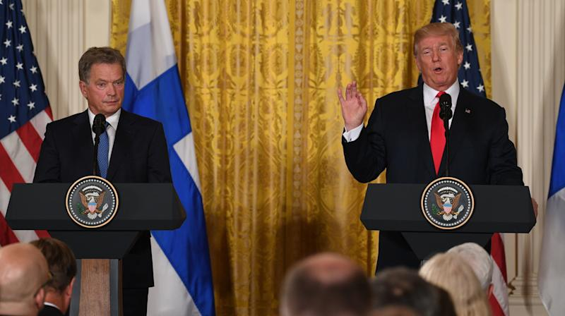 Trump Confuses Two Female Finnish Journalists During Press Conference