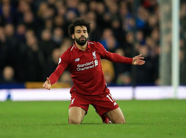 Mohamed Salah and Liverpool's other attackers are going cold at a bad time. (Getty)