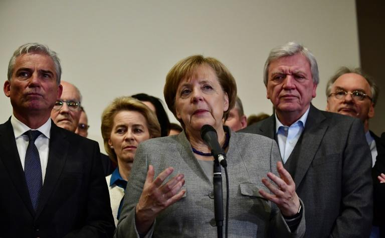 German Chancellor Angela Merkel vowed to steer Germany through the crisis after exploratory talks on forming a new government broke down