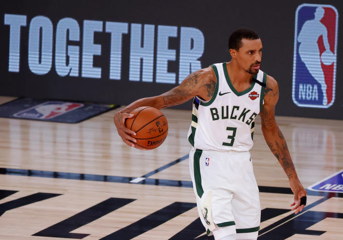 George Hill was a leader in the decisions that led to this week's NBA player strike. (Kevin C. Cox/Getty Images)
