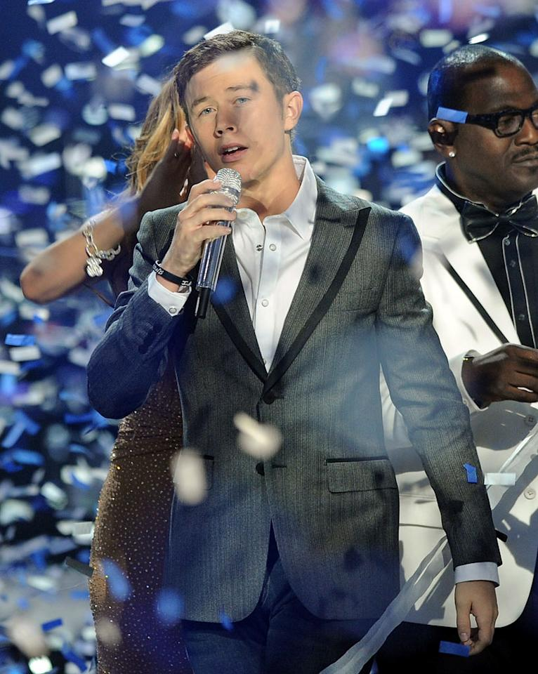 """WORST: """"<a href=""""/american-idol/show/34934"""">American Idol</a>"""" — It was a surprise to no one, but it is still a travesty that the abhorrent Scotty McCreery won this little dog and pony show. Also horrible: Tom Jones's current face, which the finale also exposed us to. Insult to injury, indeed."""