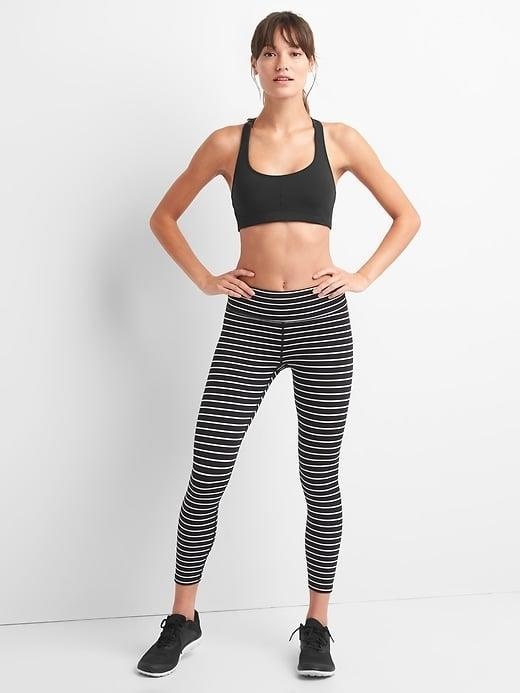 <p>So you have one too many pairs of plain black leggings? Spice it up (a little) with the striped <span>GapFit Blackout Stripe Leggings</span> ($56, originally $70) instead.</p>