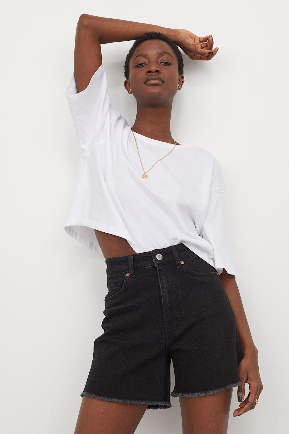 <p>Your summer closet just isn't complete without a pair (or two) of <span>High-Waist Denim Shorts</span> ($25).</p>