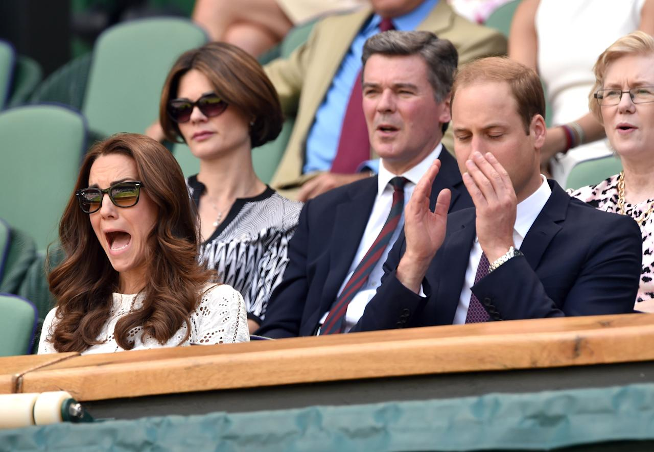 """<p><a href=""""https://www.townandcountrymag.com/style/fashion-trends/news/g1633/kate-middleton-fashion/"""" target=""""_blank"""">Kate Middleton</a> is good at being a royal. She knows how to smile genially, speak kindly to fans, and graciously accept tokens of their appreciation. In nearly every photo, she looks beautiful, peaceful, and kind—<a href=""""https://www.townandcountrymag.com/society/tradition/a27952023/kate-middleton-elsa-dress-young-girl-cumbria/"""" target=""""_blank"""">a modern Disney-esque princess</a>. </p><p>But every now and then, royal watchers get a peek at Kate's wild(er) side. Mostly, this happens <a href=""""https://www.townandcountrymag.com/society/tradition/g10241217/royal-family-wimbledon/"""" target=""""_blank"""">during sporting events</a>. The Duchess experiences a full range of emotion, reacting to every tennis stroke, rugby catch, or synchronized swimming routine. Despair! Surprise! Joy! It's all there, on her extremely expressive face. Here, <a href=""""https://www.townandcountrymag.com/society/tradition/a28396231/kate-middleton-prince-louis-stan-smith-sneakers/"""" target=""""_blank"""">Kate Middleton</a>'s best sport reactions.</p>"""