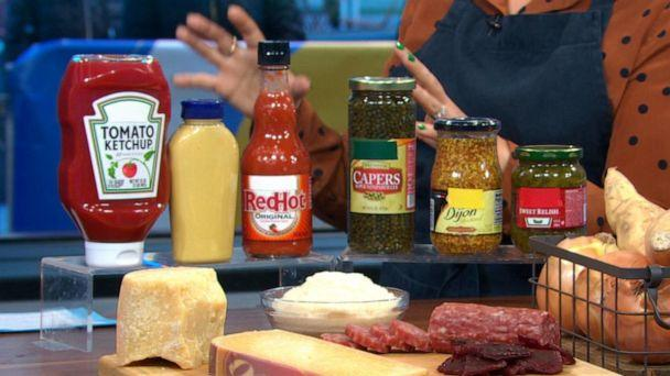 PHOTO: Condiments like mustard and hot sauce key pantry items to stay stocked up on. (ABC News)