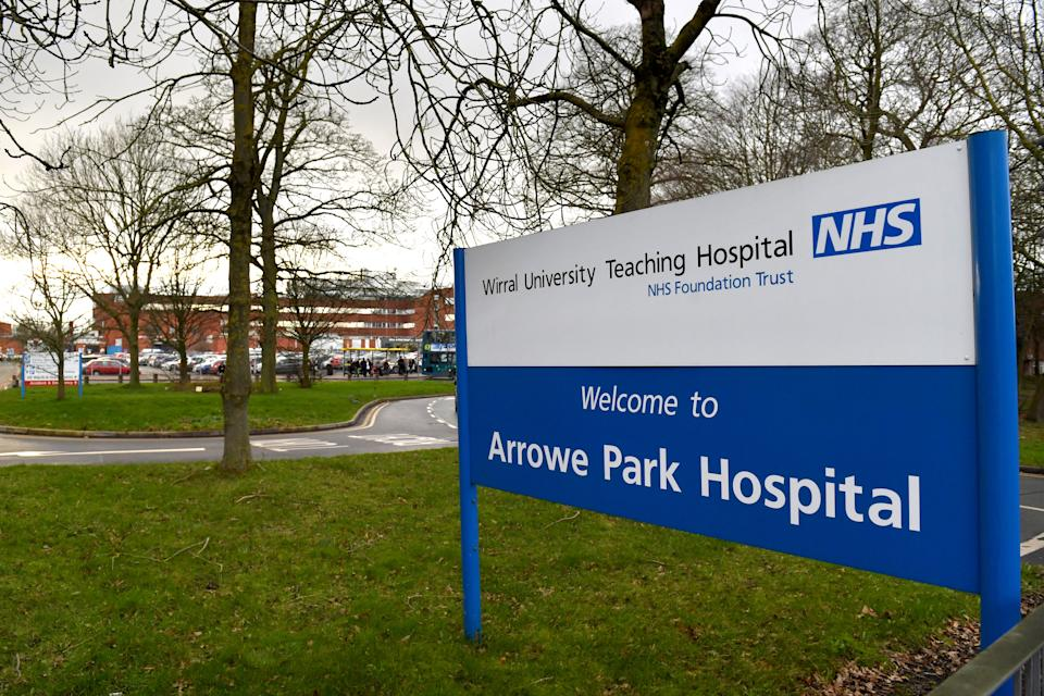 WIRRAL, ENGLAND - JANUARY 31: A general view of Arrowe Park Hospital in Merseyside, where British nationals evacuated from Wuhan Province are due to be quarantined, on January 31, 2020 in Wirral, England. Two people in the same family have been diagnosed with the Coronavirus in the UK, which has killed at least 213 people in China. (Photo by Anthony Devlin/Getty Images)