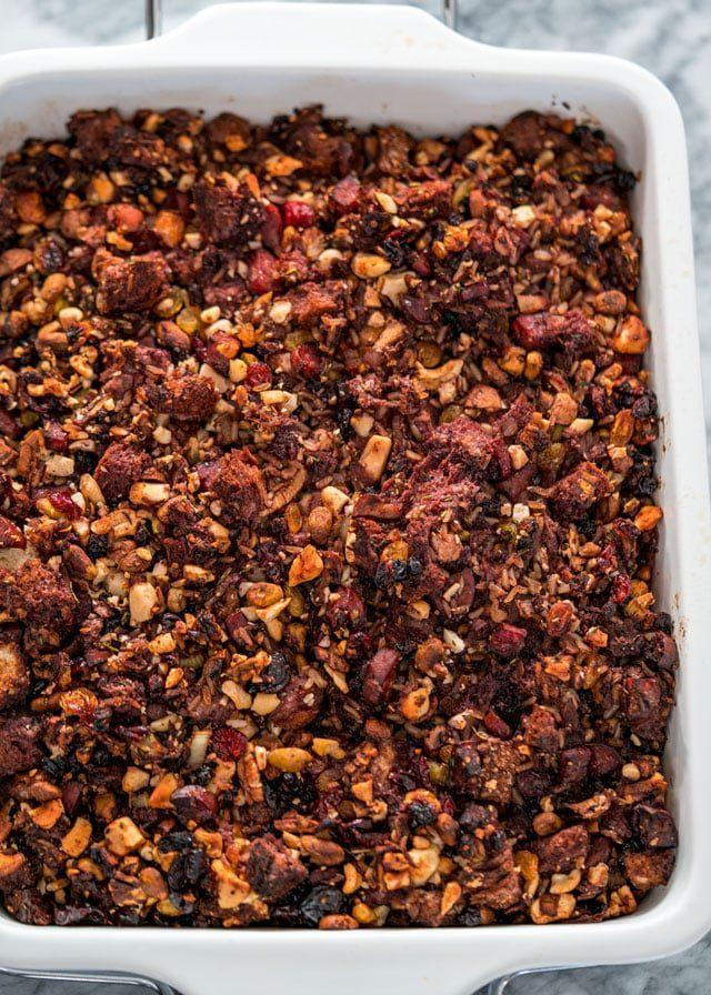"<p>Think outside the box with this insanely flavorful stuffing. It's made of Port wine, nuts, and dried fruit.</p><p><strong>Get the recipe at <a href=""https://www.jocooks.com/recipes/port-infused-nut-stuffing/"" rel=""nofollow noopener"" target=""_blank"" data-ylk=""slk:Jo Cooks"" class=""link rapid-noclick-resp"">Jo Cooks</a>.</strong></p><p><strong><a class=""link rapid-noclick-resp"" href=""https://go.redirectingat.com?id=74968X1596630&url=https%3A%2F%2Fwww.walmart.com%2Fbrowse%2Fhome%2Fcooking-utensils%2F4044_623679_133020_4496646_3272847%3Ffacet%3Dbran%253AThe%2BPioneer%2BWoman&sref=https%3A%2F%2Fwww.thepioneerwoman.com%2Ffood-cooking%2Fmeals-menus%2Fg33251890%2Fbest-thanksgiving-sides%2F"" rel=""nofollow noopener"" target=""_blank"" data-ylk=""slk:SHOP KITCHEN TOOLS"">SHOP KITCHEN TOOLS</a><br></strong></p>"