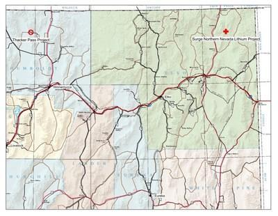 """""""Map Location of the Northern Nevada Lithium Project"""""""