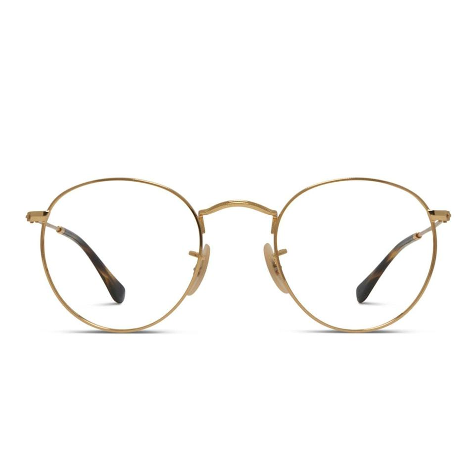 """<p><strong>Ray-Ban</strong></p><p>glassesusa.com</p><p><a href=""""https://go.redirectingat.com?id=74968X1596630&url=https%3A%2F%2Fwww.glassesusa.com%2Fgold-small%2Fray-ban-rx3447v-round-metal%2F44-000752.html&sref=https%3A%2F%2Fwww.menshealth.com%2Fstyle%2Fg37159186%2Fbest-online-glasses-stores%2F"""" rel=""""nofollow noopener"""" target=""""_blank"""" data-ylk=""""slk:BUY IT HERE"""" class=""""link rapid-noclick-resp"""">BUY IT HERE</a></p><p><strong>Ray-Ban Round Metal Glasses<br></strong>$177</p><p>As one of the ultimate one-stop shops, Glasses USA truly has something for everyone. They carry leading styles from the likes of Ray-Ban and Gucci to smaller, lesser-known brands that look just as fresh. Each pair comes with a money-back guarantee and a year-long warranty. What really separates them though are the options and prices: they also offer sunglasses and multifocal lenses ranging from under $50 to up to almost $600. With so much to love, you'd be hard-pressed not to find the perfect pair.<br></p>"""