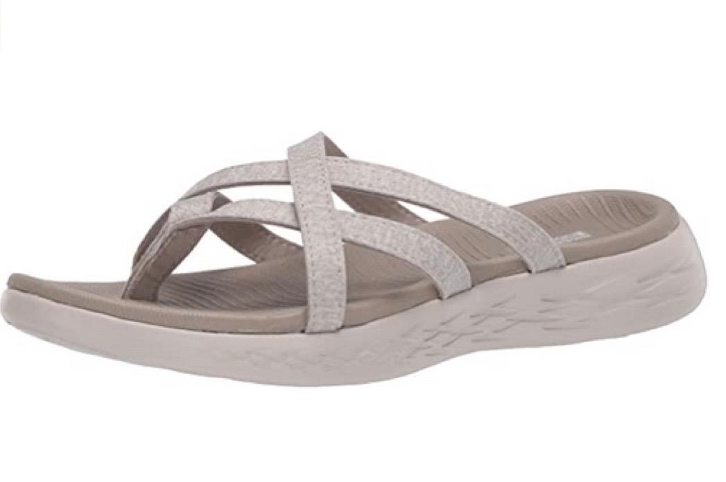 That criss-cross strapping conspires with a tougher-than-expected insole to make these anything but dainty. Still....so cute! (Photo: Amazon)