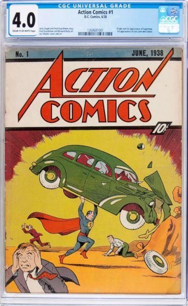 PHOTO: A copy of the first comic book to feature Superman is going up for sale, Action Comics #1, 1938. (Heritage Auctions)