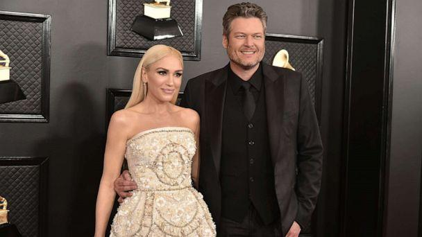 PHOTO: Gwen Stefani and Blake Shelton attend the 62nd Annual Grammy Awards at Staples Center on Jan. 26, 2020 in Los Angeles. (David Crotty/Patrick McMullan via Getty Images)