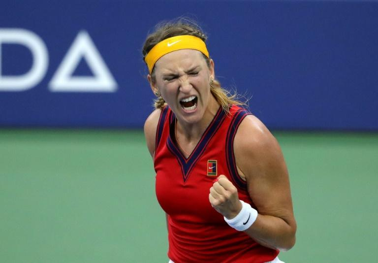Victoria Azarenka of Belarus hopes to celebrate players talking about mandatory Covid-19 vaccinations for players after US Open spectators were required to show proof of vaccination to be allowed into the event (AFP/Kena Betancur)