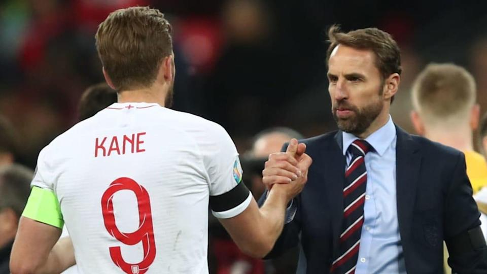 Il CT Southgate e Kane | Marc Atkins/Getty Images